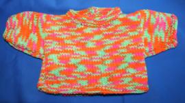 Trui Oranje/Roze/Groen