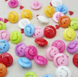 Acryl Smiley's knopen 10 stuks