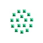 Square 5x5 mm Green