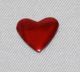 Heart 8x8 mm Siam (Red)