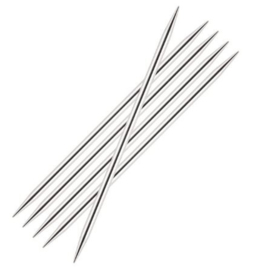 5 breinaalden zonder knop 2 mm (15 cm)