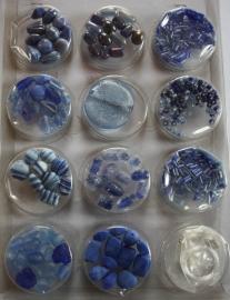 Kralensets Glaskralen Blauw