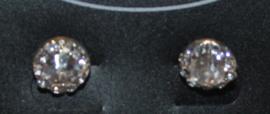 Zilverkleurige oorbellen met strassteentjes