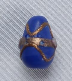 Glaskraal kegel Blauw met accenten
