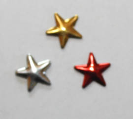 Star 7 mm Red/Gold/Silver