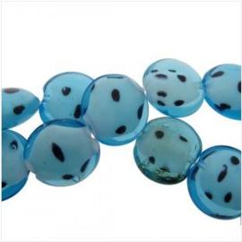 Kraal Schijf aqua blauw