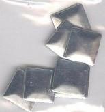 Square Silver 10x10 mm