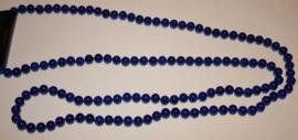 Cobaltblauwe glaskralen ketting