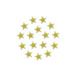 Rimmed Epoxy Star Yellow 8mm