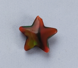 Glaskraal ster Rood met kleurige accenten