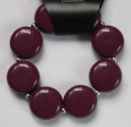 Aubergine kleurige armband