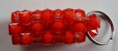Handgemaakte sleutelhanger Rood