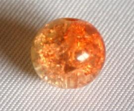Crackle kraal oranje/geel