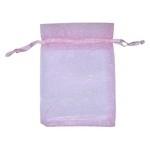 Organza zakjes Pink 7x9 cm (10)