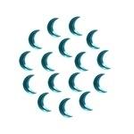 Moon 3x10 mm Blue