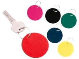 10 Vilten sleutelhangers (1 kleur)