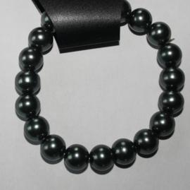 Groengrijze parel armband