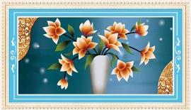 Gele Bloemenpracht 100x50 cm