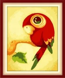 Kleine papegaai 30x25 cm