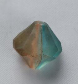 Acryl kraal Turqoise/Amber