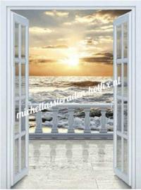 Diamond Painting Doorzicht naar zee 50x70 cm