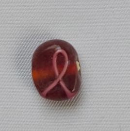 Glaskraal rood met rose strik