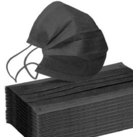 Mondkapje zwart (5 stuks)