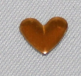 Heart Gold 6x7 mm