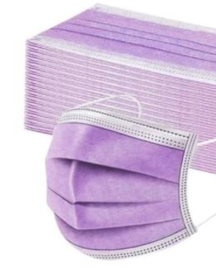 Mondkapje lila/paars (5 stuks)