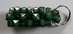 Handgemaakte sleutelhanger Groen