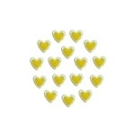 Rimmed Epoxy Heart Yellow 6mm