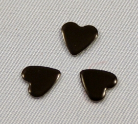Heart 8x8 mm Jet (Black)