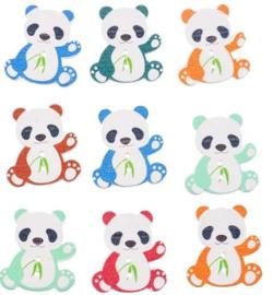 Houten Pandabeertjes 7 stuks