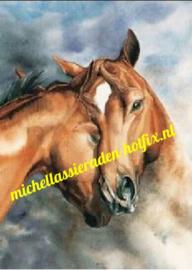Vriendschap Paarden 40x50 cm