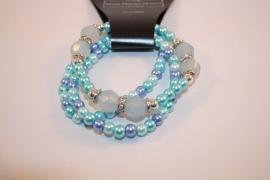 Blauwe meervoudige armband