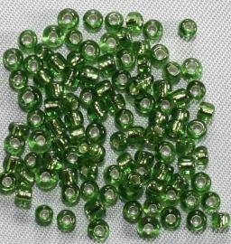 Rocailles Groen (zilver kern)