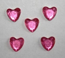 Plaksteen Hart Rose 8x8 mm