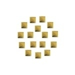 Square 5x5 mm Gold