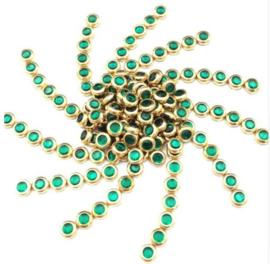 Hotfixstones Gold Rim SS10 Emerald