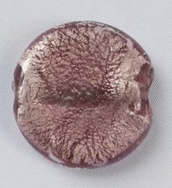 Glaskraal Rose met zilverfolie