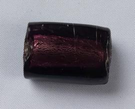 Glaskraal Donker Amethyst met zilverfolie