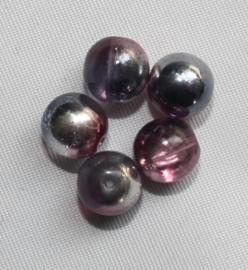 Glaskraal lichtgrijs AB (Rose/zilver AB)