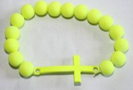 Neon armband Yellow Kruis