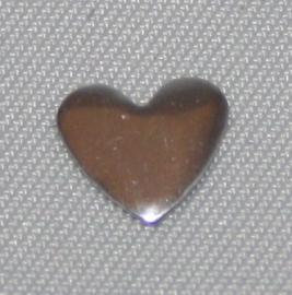 Heart Silver 6x7 mm