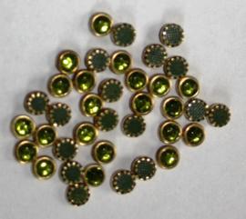 Hotfixstones Gold Rim SS16 Olivine