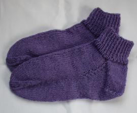 Lila/Paarse sokken maat 36/37