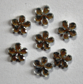 Plaksteen Bloem Chrystal 10x10 mm