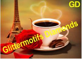 Koffie in Parijs 50x35 cm