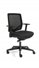 Bureaustoel thuis EM 300 rug in mesh zwart