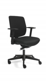 Bureaustoel thuis EM 300 gestoffeerde rug